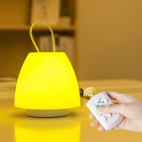 10 Files Dimming Remote Control Kids Night Lights Table Wall Hanging Lamp Bedroom Bedside Baby Feeding Moon Lamps Energy Saving