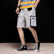 MRDONOO 2019 New Summer Men's Cargo Shorts With Po