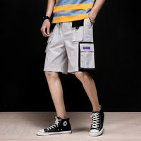 MRDONOO 2019 New Summer Men's Cargo Shorts With Pockets Safari Style Cotton Casual Shorts Streetwear DK285