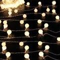 Открытый 10 см 80 LED Connectable Гирлянда глобус Мяч свет строка фея свет Рождества гирлянда свадебный garden party декор