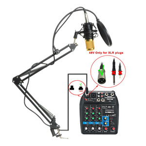 Image 4 - BM 800 KIT Wired Condenser Sound Microphone with Stand+Metal Shock Mount+Windscreen for PC Recording/Chorus/Broadcasting