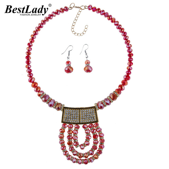 Hot Brand Boho Cheap Women Jewelry Sets Beads Necklaces Collar Chokers Layer Trendy Statement Bijoux 4462