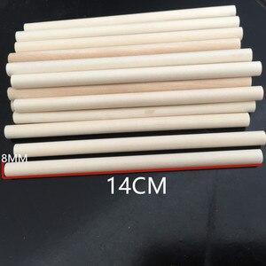 10pcs Wooden Dowel Rods Unfinished Hardwood Round Dowel Sticks, Crafts, DIY Projects(China)