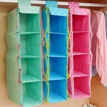 Hot Sale 4 Pocket Non-woven Storage Bag Closet Wardrobe Rack Hangers Holder Portable Organizer Pouch Hang The Bag