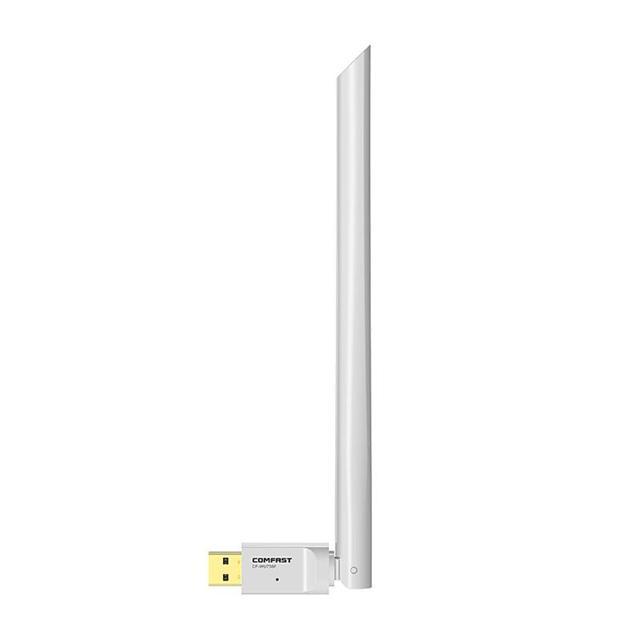 Adaptador USB Wifi 650Mbps Dongle Receptor Sem Fio Placa de Rede Ethernet 6dBi Antena para Windows XP/7/8 /8.1/Mac 1 OS10.6 10.15