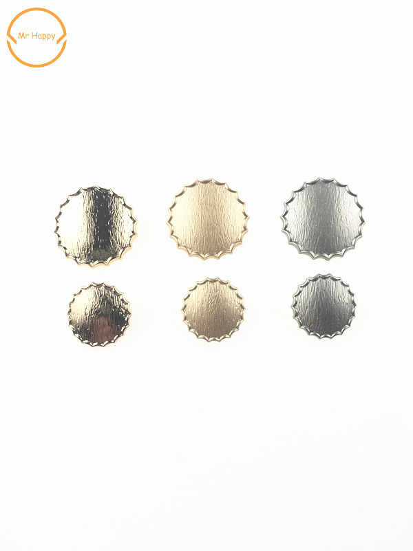 รอบรูปร่าง 2 ชิ้น/ล็อตรูปพิเศษปุ่มตกแต่งเย็บอุปกรณ์เสริม DIY สำหรับเสื้อกันหนาวเสื้อกันหนาวและเสื้อ