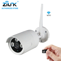 ZILNK 720P 960P 1080P Wireless Bullet IP Camera 1 0MP WiFi CCTV Night Vision TF Card