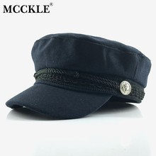 MCCKLE Frauen Winter Casual Wolle Kappe Hüte 2018 Taste Baseball Cap Sonnenblende Hut Gorras Casquette Weibliche Schwarze Mode Caps(China)
