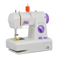1PC High Quality FHSM 208 Portable Multi function Electric Sewing Machine Sew forward With English Manual