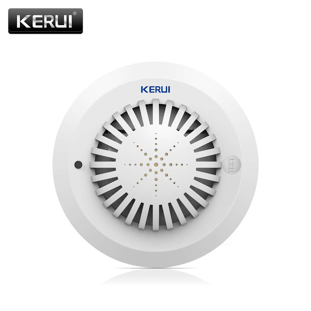 Voice Prompts Wireless Smoke Fire Detector Sensor Low Battery Remind High Sensitivity Smoke Alarm For Home GSM Alarm System