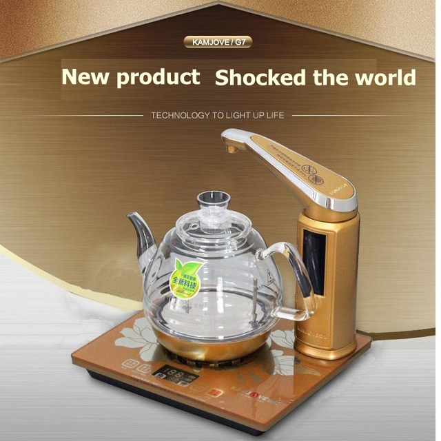 KAMJOVE new style Intelligent electric heating stove glass electric kettle boil tea health smart crystal electric tea stove