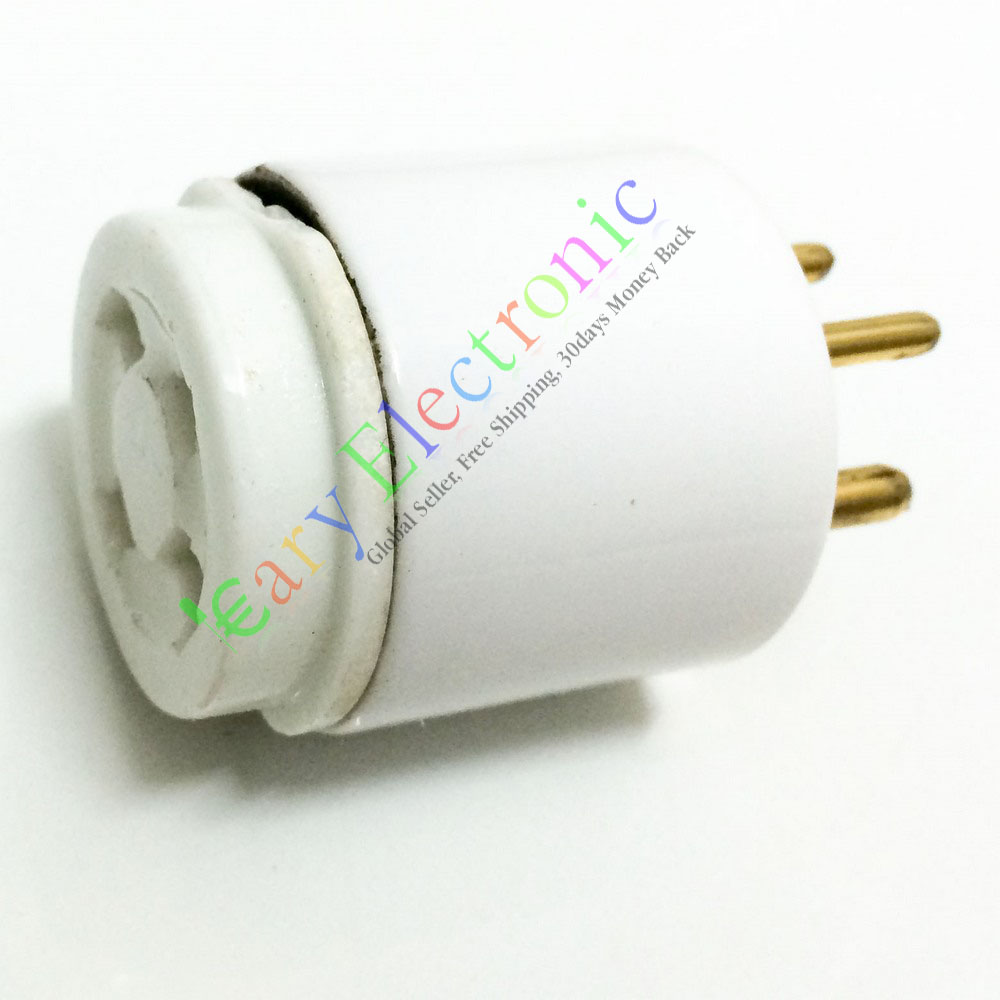 Wholesale and retail 8pc 4pin GOLD Ceramic VACCUM Tube Adapter Socket base audio free shipping wholesale and retail 20pc 9pin gold plated ceramic tube socket audio accessories rs1003 f3a amplifier free shipping