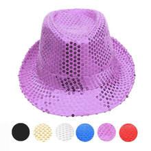 Платье шляпа шапка с блестками танец сценическое шоу представление chapeau vogue яркая крышка Мода homme gorras mujer шапочка волшебная шапка