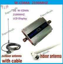¡Caliente! 3G Mini WCDMA 2100 MHz teléfono móvil señal de refuerzo repetidor amplificador de teléfono celular con Cable + antena gota libre