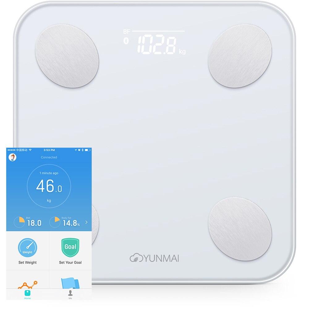 YUNMAI Mini 2 Body Fat Monitor взвешивает баланс Smart Body Fat Scale умный анализ данных приложение управление цифровым весовым инструментом