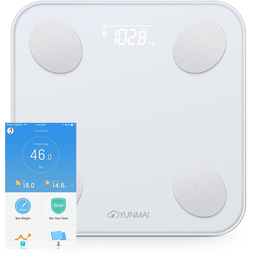 YUNMAI Mini 2 Body Fat Monitor weigh Balance Smart Body Fat Scale Intelligent Data Analysis APP Control Digital Weighing Tool
