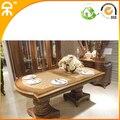 Большой прямоугольник роскошный Обеденный набор для большой семьи (1 + 6 стула)