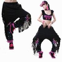 2017 CAZ Kostüm kadın Baggy Harem Hip Hop Dans Pantolon Püsküller Pantolon Kız Sweatpants