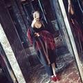 [TWOTWINSTYLE] 2017 Осень Patchworck Кисти Вышивка Длинные Траншеи Женщин Новая Мода Clothing