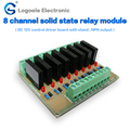 12V/24V 8 channel solid state relay module circuit switch controller