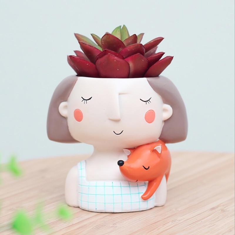 Sultingas augalas puodukas mielas mergaitė gėlių planšetė - Sodo reikmenys - Nuotrauka 4