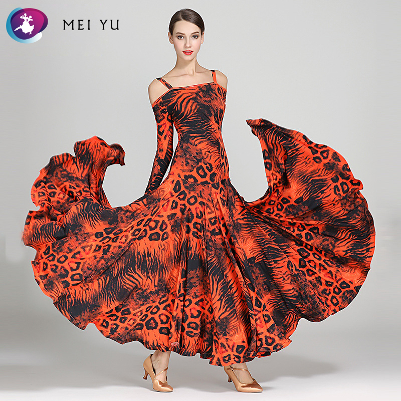 Ballroom Ambitious Mei Yu S9043 Modern Dance Costume Women Ladies Dancewear Waltzing Tango Dancing Dress Ballroom Costume Evening Party Dress Supplement The Vital Energy And Nourish Yin