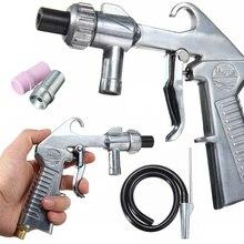 Industrial Aire Arenadora Pistola Kit Establece Arena Blaster Chorro de Arena con 3 Boquillas de Acero De Cerámica 1 Tubo De Succión De Arena