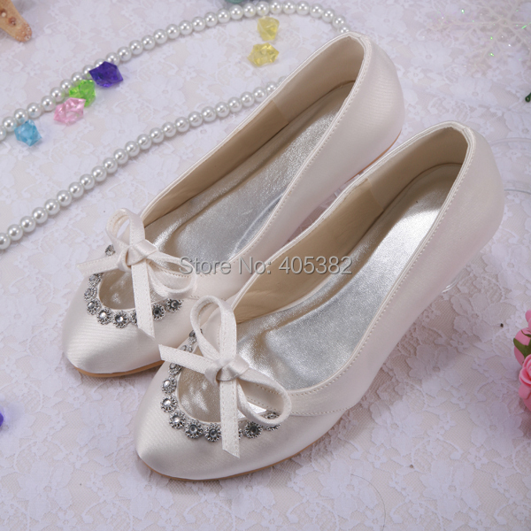 (20 Colors)Custom White Ivory Wedding Bridal Ballet Casual Flat Shoes for Women