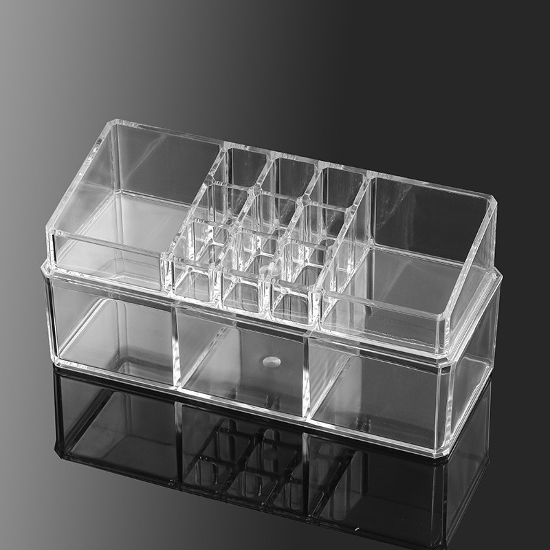 14 Grids Acrylic Cosmetic Makeup Box Transparent Jewel Case Lipstick Holder Organizer Clear Display Stand Sundry Storage Box