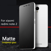 Frosted Tempered Glass Screen Protector For Xiaomi HongMi RedMi Note 2 Note2 5 5inch No Finger