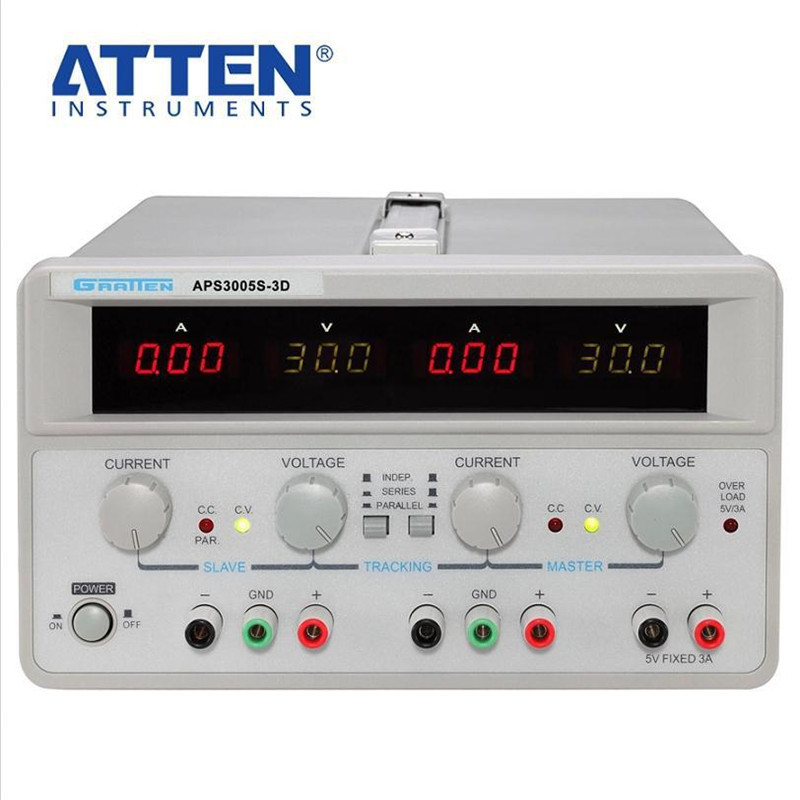 220V ATTEN Digital Display DC Voltage Regulators Power Supply APS3005S-3D Two-Way 30V 5A Adjustable Linear DC Power Supply rps6005c 2 dc power supply 4 digital display high precision dc voltage supply 60v 5a linear power supply maintenance