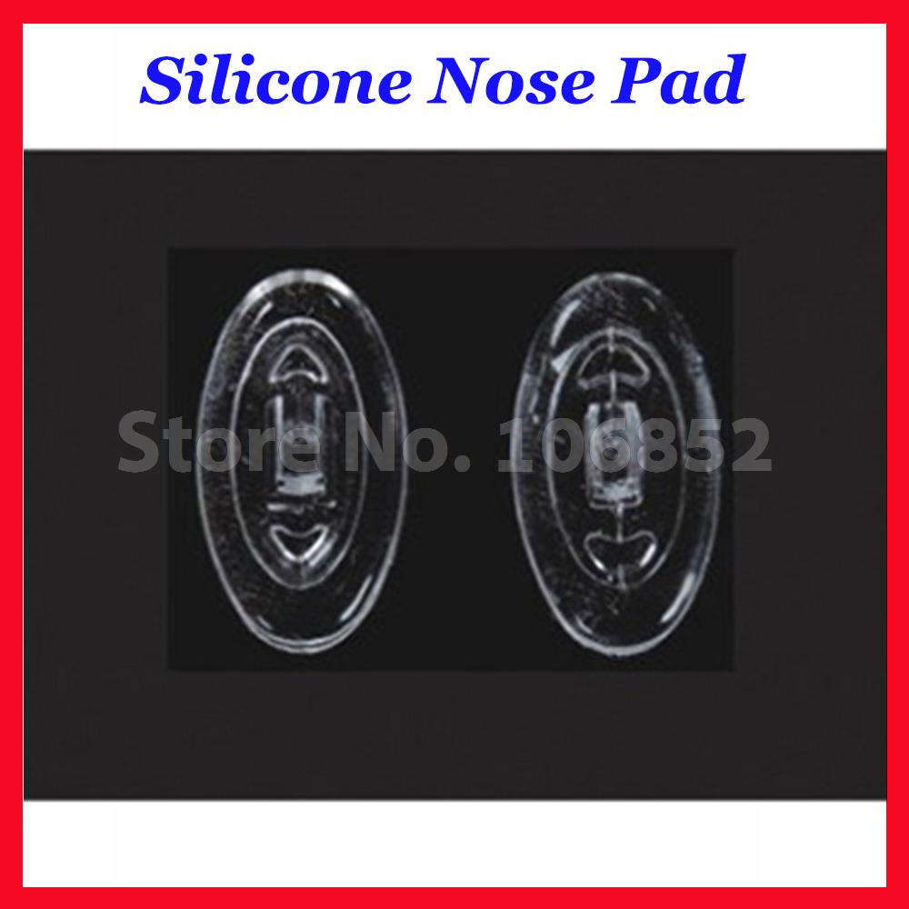 Oval Optical Silicone nose pads size 11mm 12mm 13mm 15mm 16mm screw in or push in