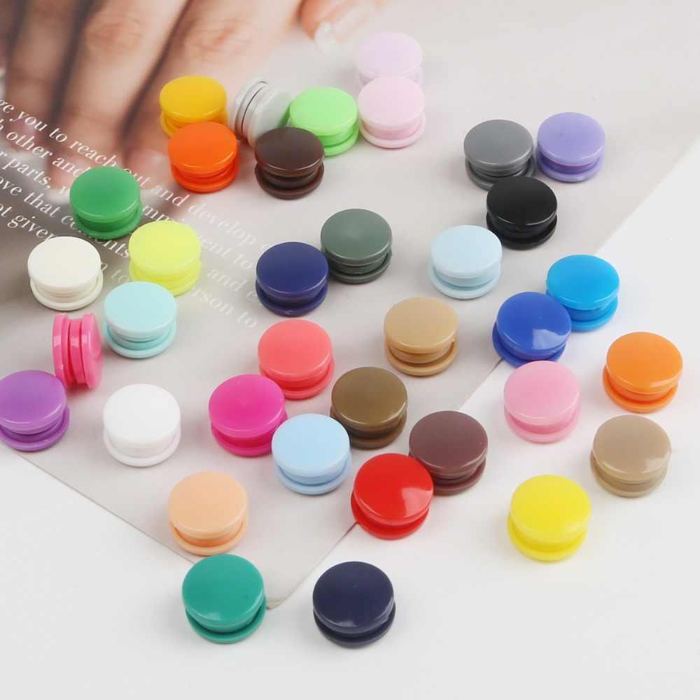 20 세트 라운드 플라스틱 스냅 버튼 패스너 캄 T5 12mm 의류 액세서리 아기 옷 클립 퀼트 커버 시트 버튼