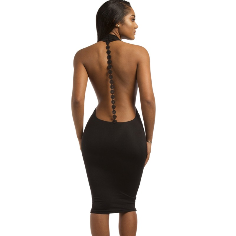 Women sheer slim bodycon dress mesh backless sexy mini tights glitter clubwear