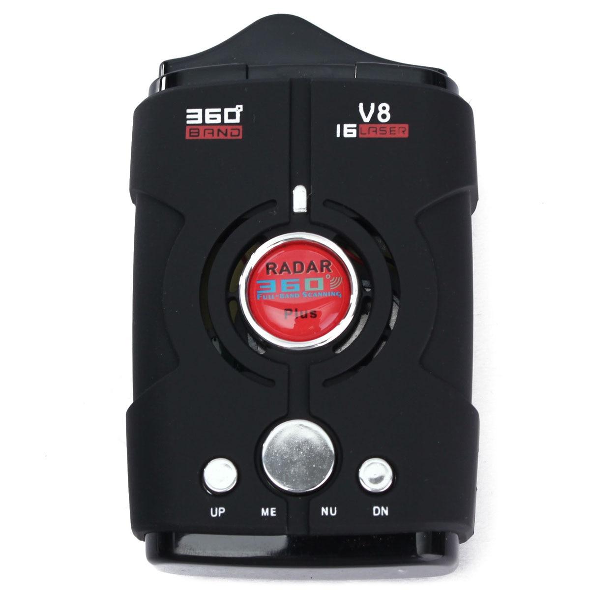 Laser Pistolet Radar De Vitesse Détecteur De Voiture Moto 16 Bande 360 Degrés V8 Nouveau