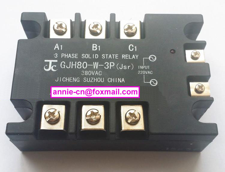 New and original GJH80-W-3P(Jsr) JICHENG 3-PHASE AC SOLID STATE RELAY  80A   380VAC high quality ac ac 80 250v 24 380v 60a 4 screw terminal 1 phase solid state relay w heatsink