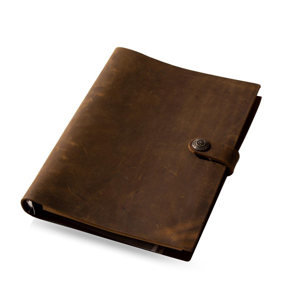 Image 2 - handmade Traveler's Note Book notebook brown Genuine Leather Cowhide leather diary vintage loose leaf planner Sketchbook-in Notebooks from Office & School Supplies