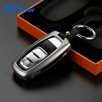Aluminum Remote Car Key Cover Case Car Keychain Key Holder Key Fob Case Shell For Audi A4 B6 B8 B7 A6 C5 C6 Q5 Auto Accessories