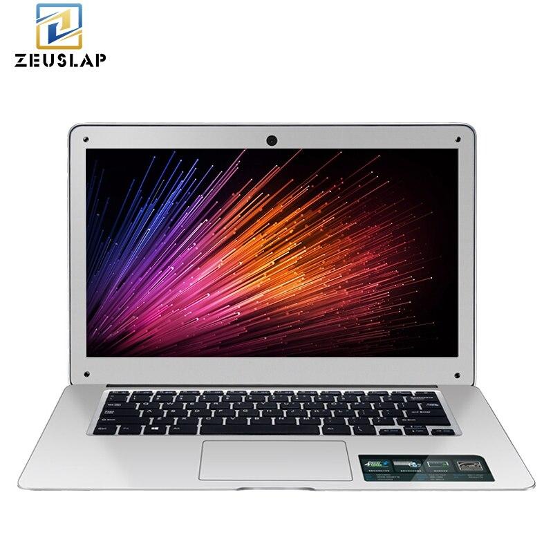 ZEUSLAP 14 pollici 8 gb di RAM + 128 gb SSD DA 1 tb HDD Finestre 10 Sistema di 1920X1080 p FHD Intel Quad Core Del Computer Portatile Ultrabook Notebook Computer