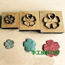 Neue Japan Stahl Klinge DIY leder handwerk fünf blütenblatt blume stanzen messer form holz sterben hand punch werkzeug