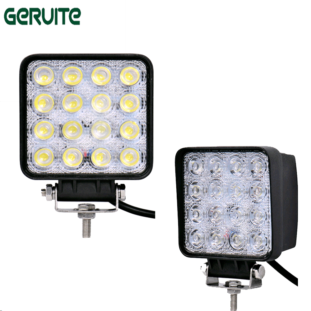 10 Pieces 48W 16 x 3W Car LED Light Bar as Square Work/Drive Lamp Spot Light fog light lamp for Boating Hunting Fishing