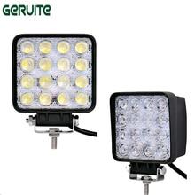 10 Вт шт. 48 Вт 16 x Вт 3 светодио дный Вт Автомобильный светодиодный свет бар как квадратная работа/Привод Лампа точечный свет противотуманная фара лампа для лодок Охота Рыбалка