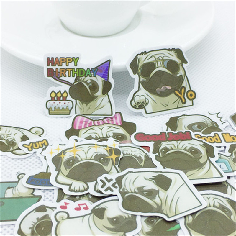 40 Pcs Cute Dog Everyday Sticker For Laptop Phone Luggage Skateboad Bicycles Cartoon Fairy Paper Stickers Scrapbooking