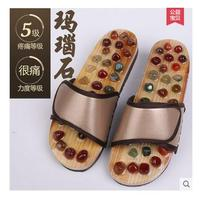 Agate Stone Reflexology Massage Acupuncture Massager Health Care Shoes Summer Sandals Slippers Women Foot Stress Relax