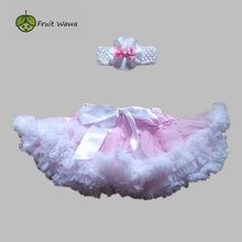 Falda de tutú Petti para niñas, conjunto de dos piezas, suave y esponjoso, diadema, falda de fiesta de cumpleaños