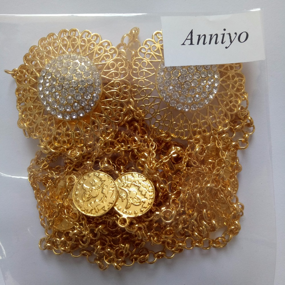 Anniyo Length 102cm Turkey Coin Belt Gold Color Arab Belly Jewelry Kurdistan Wedding Gift Middle East Turks Coins Chain 025306 In Body From