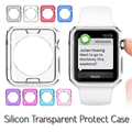 Crystal silicon ultra thin soft case protective transparent clear back cover for apple watch Standard/Sport/Edition 38mm 42mm