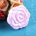De Calidad superior!!! Color Rosa Retro Rose Flor de la Forma Del Maquillaje Cosmético Espejo Compacto Estéreo 3D de Doble Cara