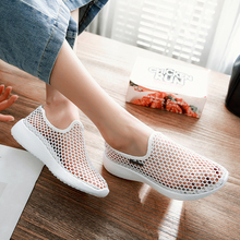 Summer Women Flats Shoes Female Hollow Breathable Mesh Casual Shoes for Ladies slip on  flats Loafers shoes Beach Footw forudesigns summer popular women super light mesh shoes flower pattern breathable slip on flats female casual beach water shoes