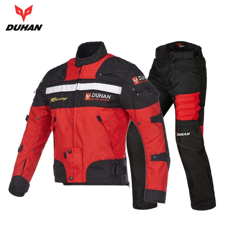DUHAN Blouson Moto Men s Motorcycle Motocross Off Road Racing Jacket Body Armor Riding Pants Clothing